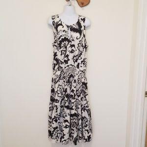 Black + white Ralph Lauren maxi dress